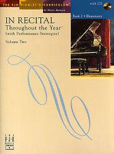En el considerando a lo largo del año Volumen 2 Aprende a tocar la música de piano Libro 2 & Cd