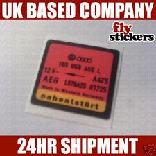 VW MK2 Golf Fan Part Number Sticker 455L