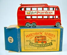 "Matchbox RW 56A Trolleybus Metallräder top in ""B"" Box"