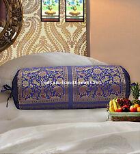 Decorative Indian Sofa Bolster Pillowcas Cylinder Elephant Bolster Pillow Cover