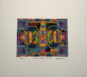 """""""Kitchen Buddha 78"""" Gilcee Print of a collage created in 1978 by Keith Garrison"""