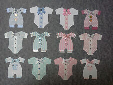*12* BABY EMBELLISHMENTS. BABY ROMPERS, CLOTHES.BABY CARD MAKING, SCRAPBOOKING