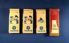 Varig Airline 1960's Vintage Cigarette Packs Unopened - Lot of 4