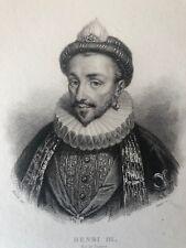 Henri III (1551-1589) Roi de France et de Pologne gravure XIXe