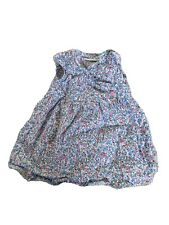 Jojo Maman Bebe 3-6 Girls Dress Bloomers Ditsy Floral Cotton Blue Pink Easter