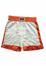 Rocky Balboa First Fight Shorts Movie Costume 1 I White Boxing Trunks Boxer