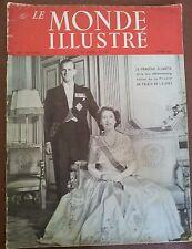 LE MONDE ILLUSTRE 22 MAY 1948 PRINCESS ELIZABETH AND DUKE OF EDINBURGH
