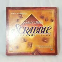 Vintage Scrabble Deluxe Crossword Game 1999 Turntable Complete Red Tiles +Extras