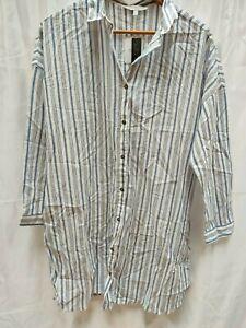 NEXT- Emma Willis Collection Stiped Shirt - Medium - Tag £32 - (12k-w)