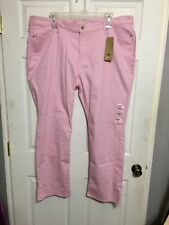 Levi's Pink 414 Classic Straight Fit Mid Rise Jeans Womens Plus Size 24W NWT