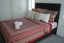 katha bedcovers, hand embroidered bed cover, katha quilts, Hand printed covers
