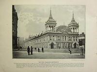 1896 VICTORIAN LONDON PRINT + TEXT ~ THE ROYAL AQUARIUM WESTMINSTER