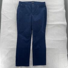 Talbots Flawless Five Pocket Corduroy Pants Women's 14 Straight Curvy Blue