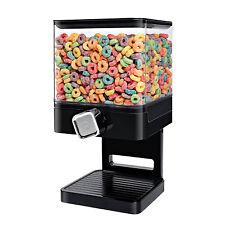 Square Cereal Dispenser Dry Food Dispenser Pasta Corn Container Machine Black