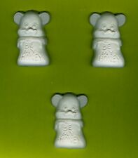 """""""Bee my honey"""" bear plaster of Paris painting project. Set of 6!"""