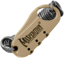 New Maxpedition Steel Cable Lock Khaki MXCABLOCK