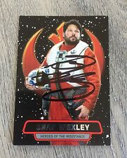 GREG GRUNBERG LOST SNAP WEXLEY STAR WARS THE FORCE AWAKENS SIGNED TOPPS CARD