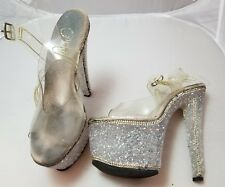Used Pleaser heels size 7 crystals