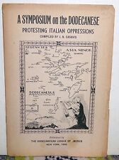 Symposium on the Dodecanese Protesting Italian Oppressions Dodecanesian Lg 1938