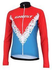 GHOST Bikes | Jersey long | Damen | red,  cyan, black, white | XS