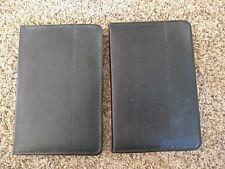 Lot Of 2 Lean Faux Leather Black Business Portfolio Folder Planner Small