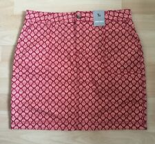 Tu Size 12 Orange & Red Pattern Skirt NWT