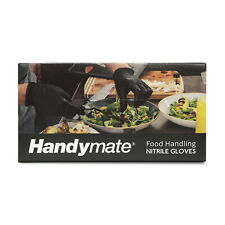 HandyMate Nitrile Disposable Gloves 5 Mil Pack of 100, Latex Free & Powder Free