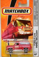 MATCHBOX 2009 CITY ACTION FORD F-100 PANEL DELIVERY #47 RED W+