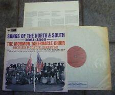 MORMON TABERNACLE CHOIR SONGS OF THE NORTH & SOUTH 1861 USA CIVIL WAR VINYL LP