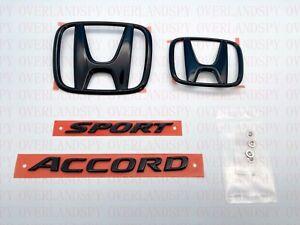 2018-2021 Accord Honda Sport EX-L Touring OEM Gloss Black Emblem Kit