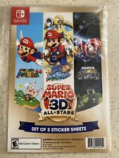 Super Mario 3D All Stars Nintendo Switch Limited Sticker 3 Sheets In-Hand!