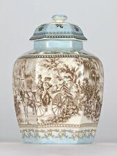 "Antique style Chinoiserie Chinese Temple Jar Ornate Edwardian Mark 21.5cm/8.5"""