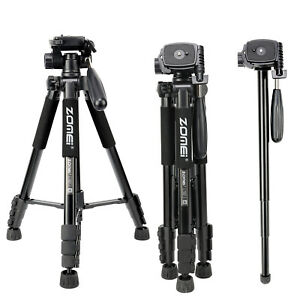 ZOMEI Camera Tripod Monopod 55''Compact Light Weight Travel stand for DSLR DV