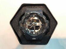 **BRAND NEW** CASIO WATCH G-SHOCK XL ANA-DIGI BLACK SILVER DIAL GA710-1A NIB!