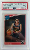 2018-19 Panini Optic Rated Rookie Trae Young RC #198, Graded PSA 9 Mint