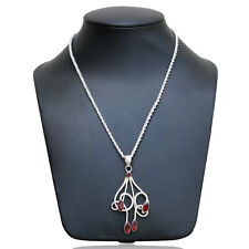 Marquise Shape Ruby Gemstone Necklace For Girls and Women Stylish Charm Pendant