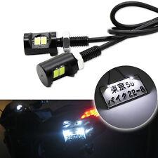 2x White 2-5730-SMD Bolt-On LED License Plate Lights For Car or Motorcycle Bike