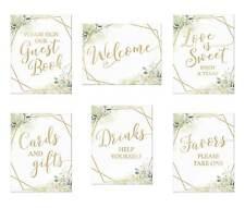 Geometric Botanical Theme Wedding Signs