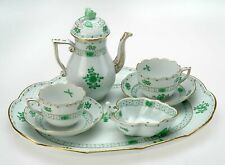 VINTAGE HEREND GREEN GARDEN WALDSTEIN CAFFE' SET FOR TWO