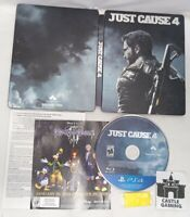 Just Cause 4 Day One Edition Steelbook PlayStation 4 PS4 TESTED DISC FAST SHIP