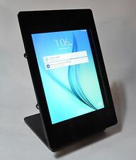 Galaxy TAB A 8.0 BLACK Acrylic Security Enclosure w Stand for POS Kiosk Square