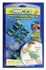 New Snap 2.0 Garden Hose Connectors w/ Bonus Nozzle