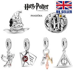 Pandora ALE 925 Openwork Harry Potter Dangle Icons Charm 799127C01 + Pouch