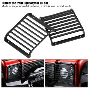 2pcs Metal Front Light Cover Grille RC Accessory for Traxxas T-RX-4 1/10 RC Car