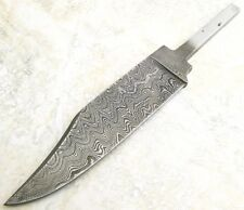 DAMASCUS STEEL Fixed Clip Point Blade Small Bowie Knife Making Blank Hidden Tang