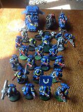 Warhammer 40k. Space Marine Army. Tactical Marines, Bikes, Land Speeder. Plastic