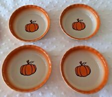 """New 4 Pumpkin dessert/soup bowls or individual pie dishes--5 1/2"""" x 1 1/2"""""""