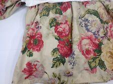 Ralph Lauren Bedding King bed skirt Pergola floral linen split pink red yellow