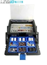 500pc Rotary Tool Accessory Kit Bit Cantilever Case Lapidary Jewelry