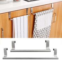 Towel Stand Rack Kitchen Cupboard Hanger Stainless Bathroom Steel Cabinet Happy